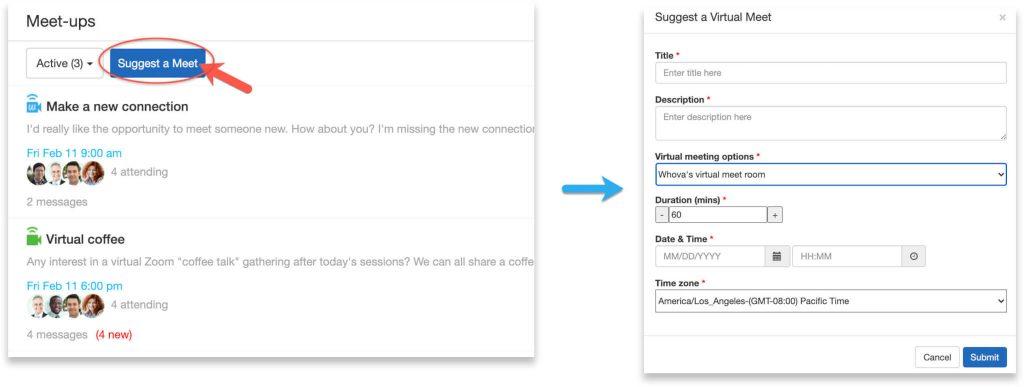Whova Web App - Whova's virtual meet room